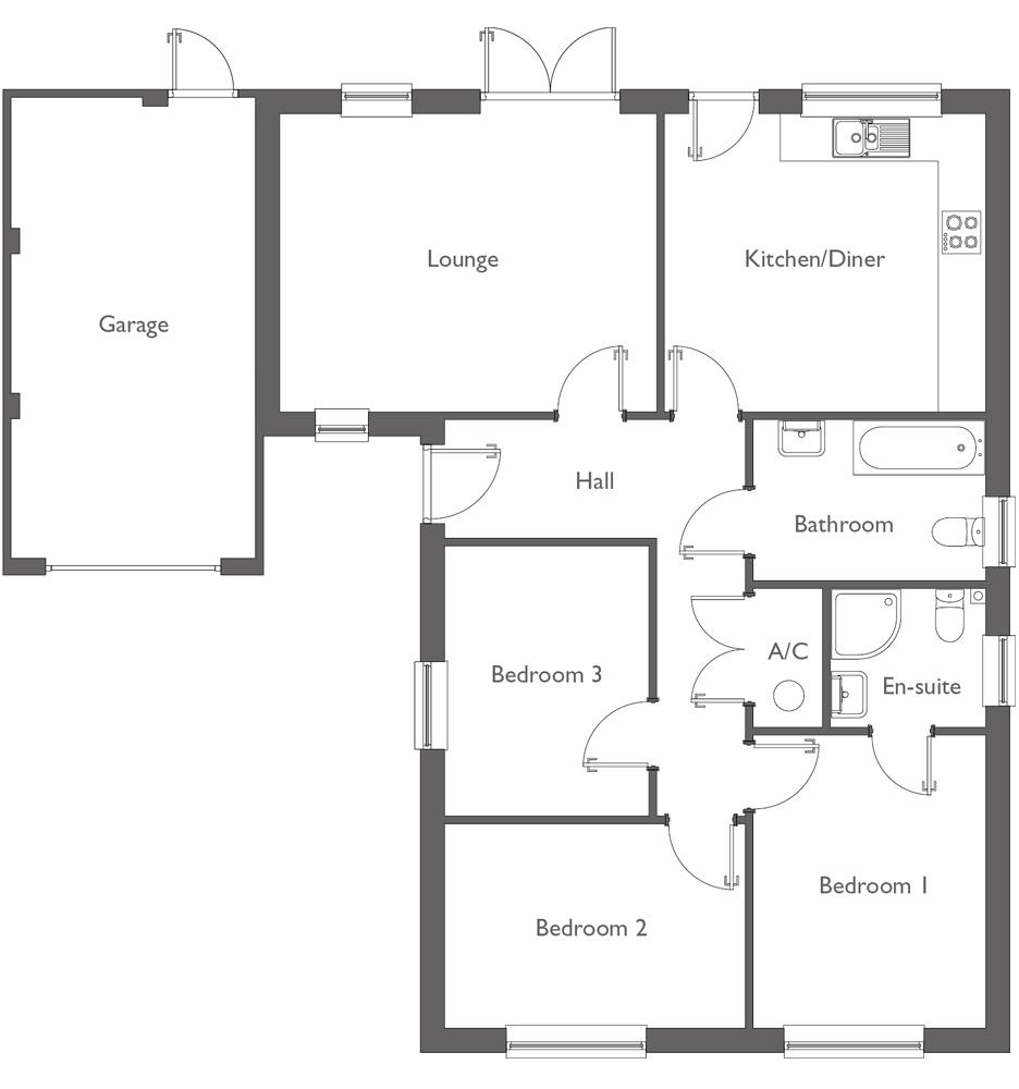 Meadow Way Floor Plan Plot 1