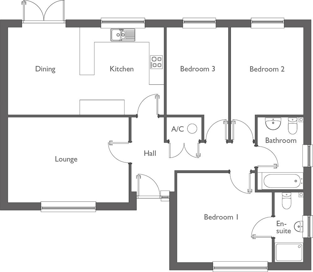Meadow Way Floor Plan Plot 3
