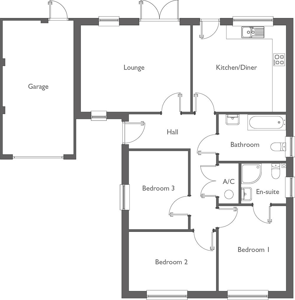 Meadow Way Floor Plan Plot 4
