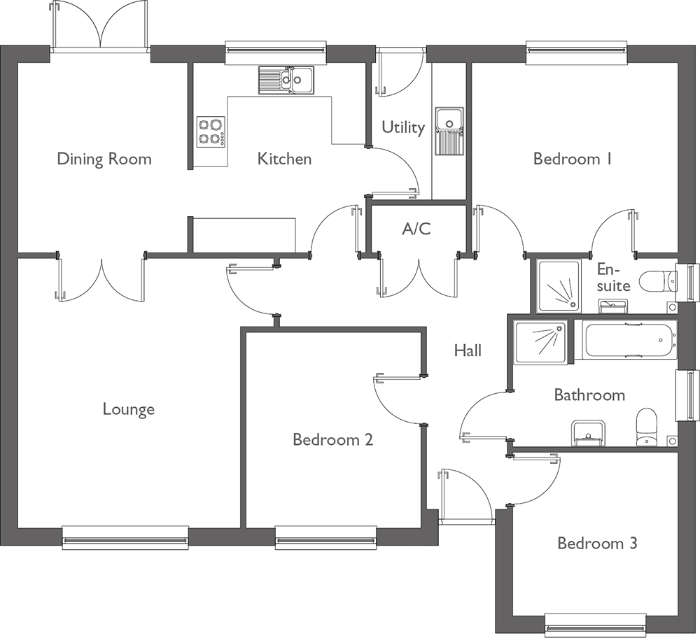 Meadow Way Floor Plan Plot 6
