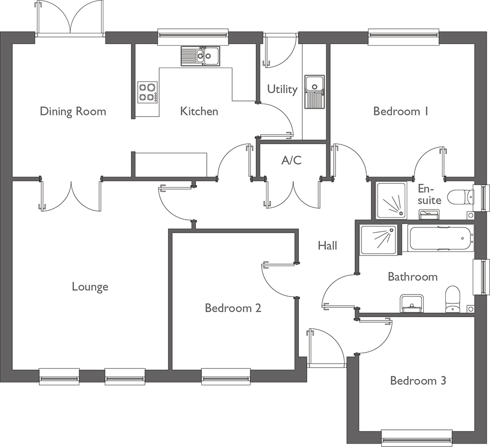 Meadow Way Floor Plan Plot 8