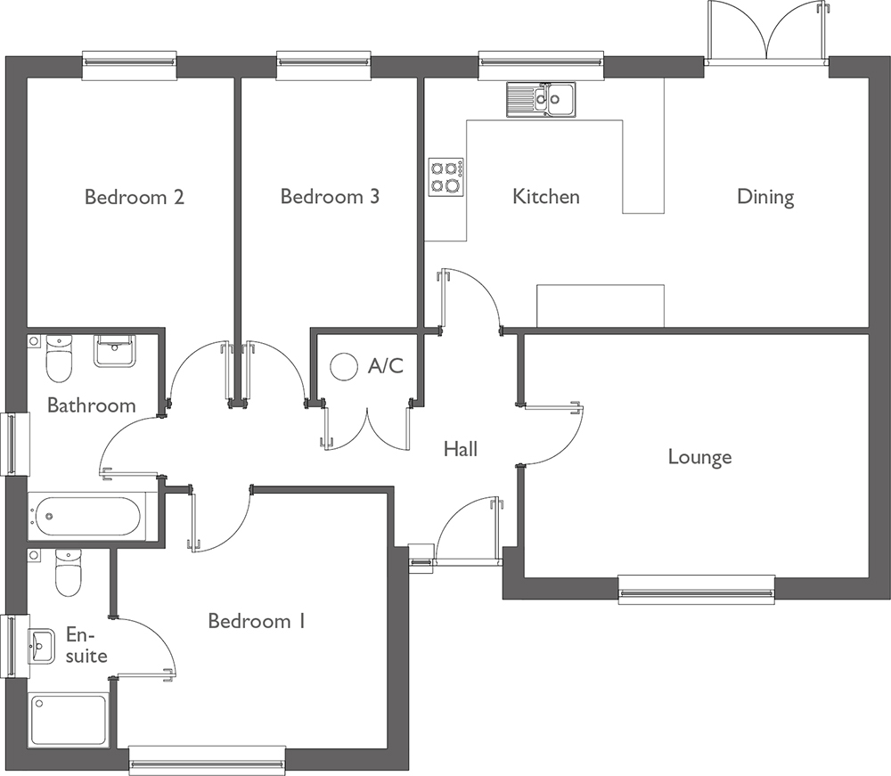 Meadow Way Floor Plan Plot 9