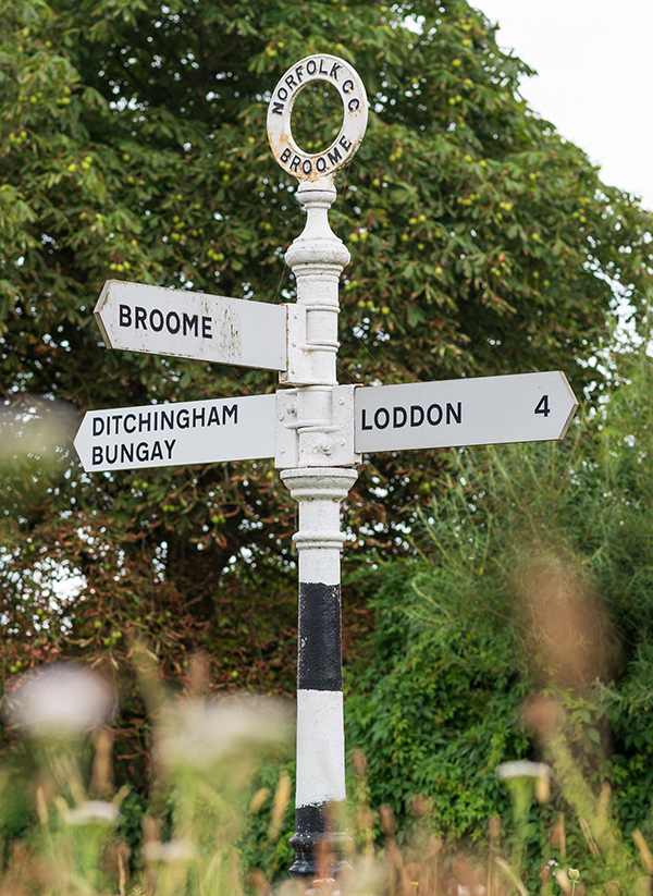 The village of Broome near Bungay