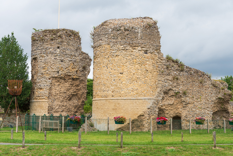 Photograph of Bungay Castle ruins
