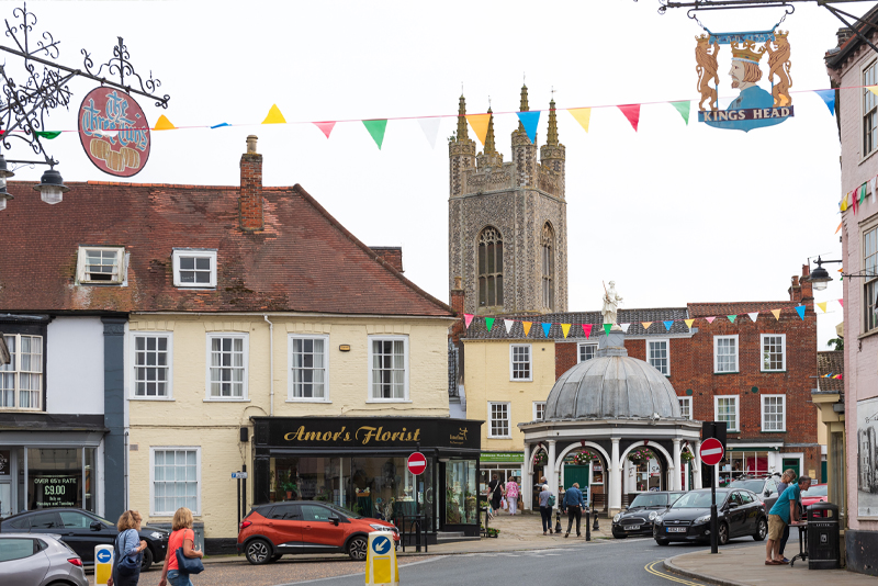 Photograph of Bungay Town Centre