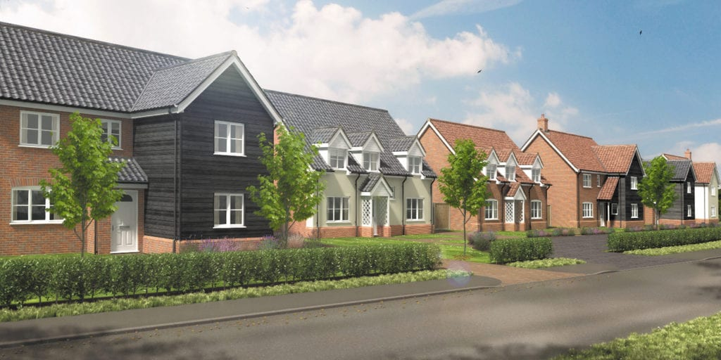 Valley View artist impression of new build homes