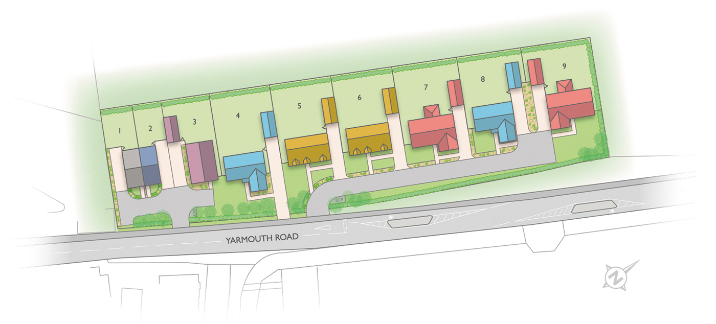 Badger Building Valley View site plan illustration