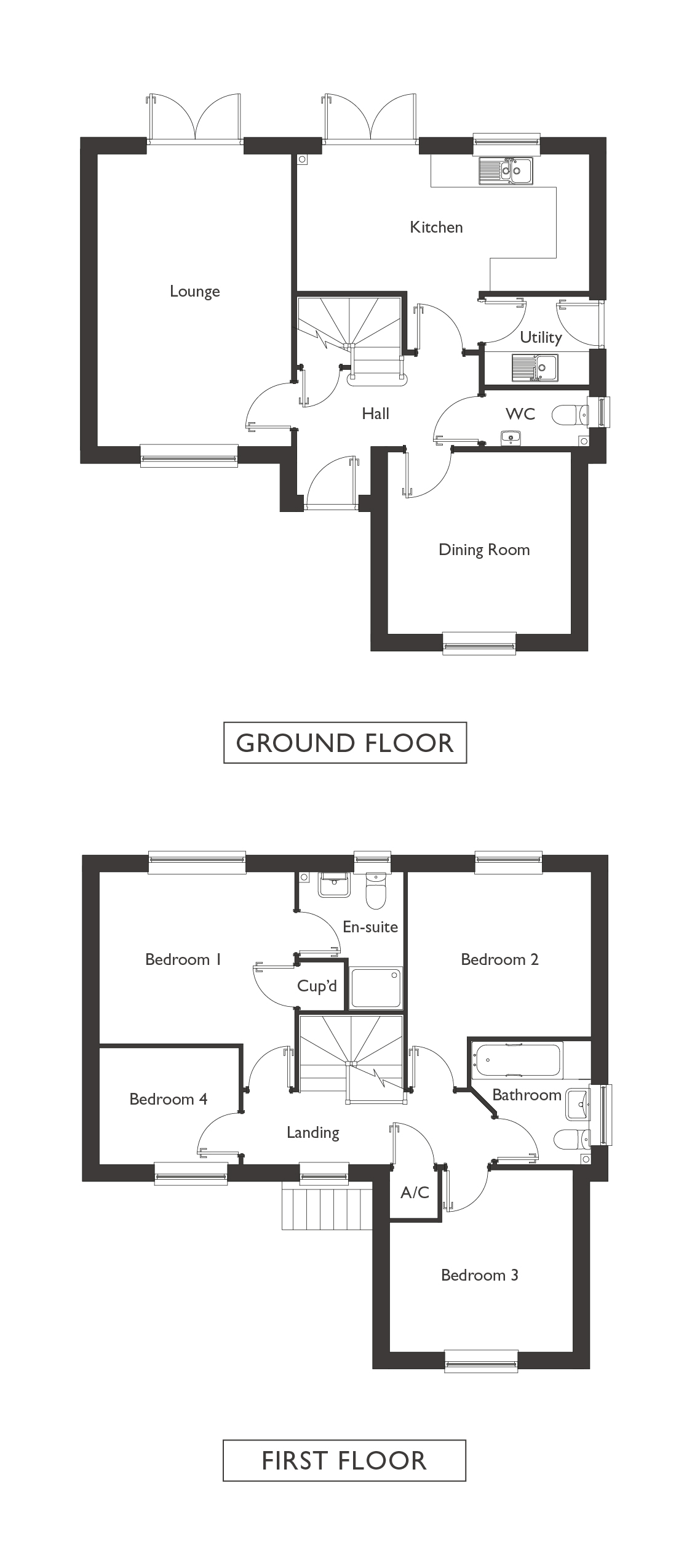 Valley View - Plot 4 - Yoxford - Floor Plans