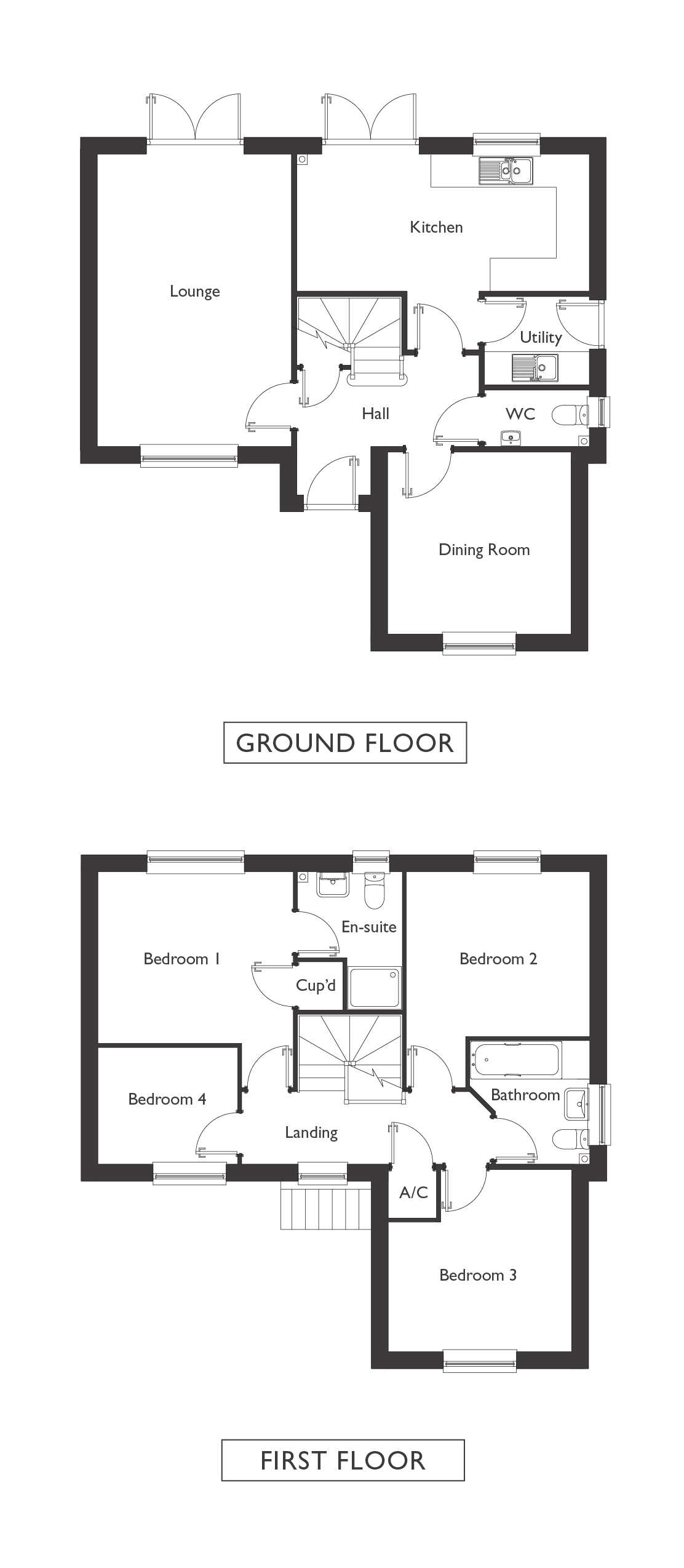 Valley View - Plot 8 - Yoxford - Floor Plans