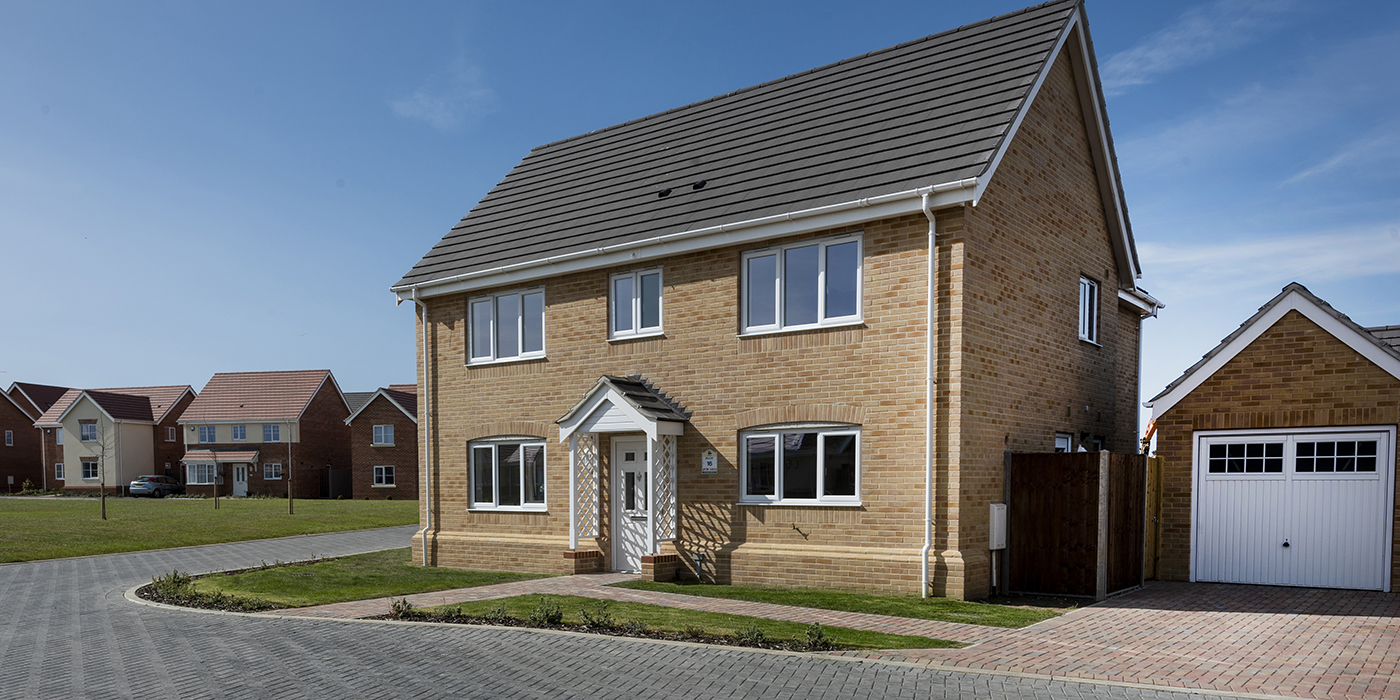 Photograph of new build house at Newstead Gardens in Blofield, Norfolk