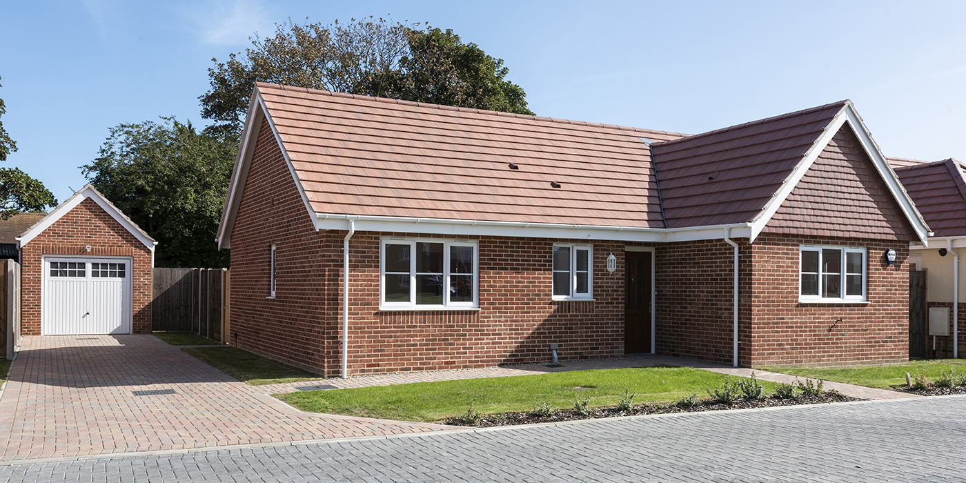 Photograph of new build bungalow at Claydon Park in Gorleston, Norfolk