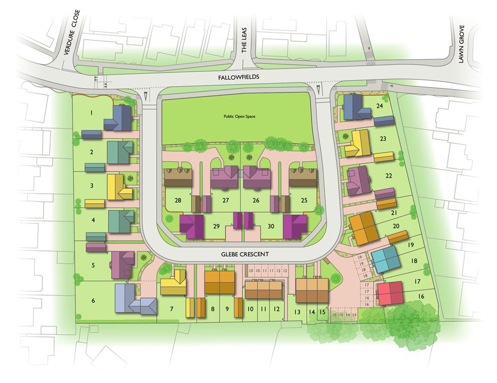 Badger Building Valley View site plan illustration